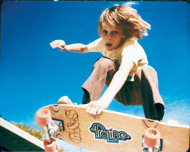 Tony Hawk already skateboarding at 9 years old.