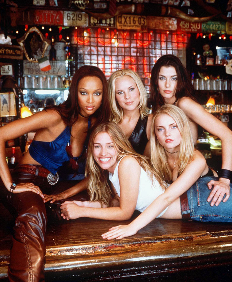 with Maria Bello, Bridget Moynahan, Izabella Miko and Piper Perabo in Coyote Ugly (2000) -- Other notable films: Higher Learning (1994), Love Stinks (1999), Love & Basketball (2000), Halloween: Resurrection (2002)