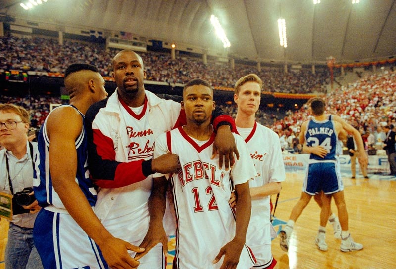 1991: No. 2 Duke beats undefeated No. 1 UNLV 79-77 in a national semifinal.