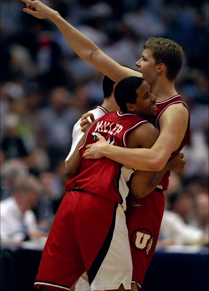 1998: No. 3 Utah defeats No. 1 North Carolina 65-59 in a national semifinal.