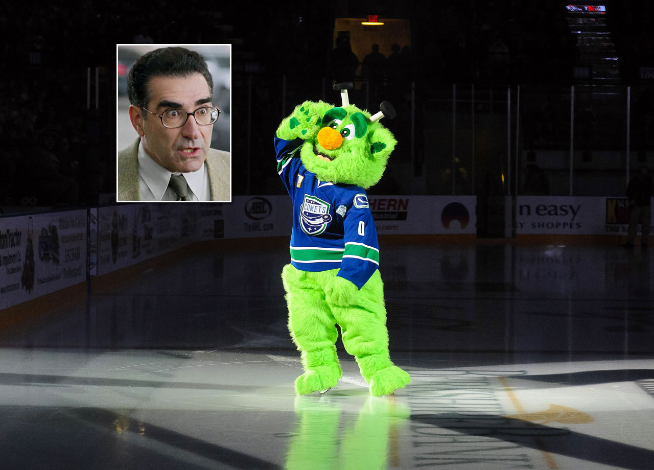 A cross between a big little green man and actor Eugene Levy?