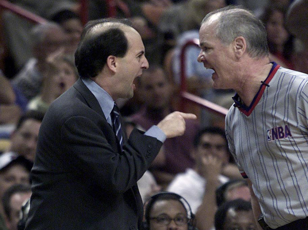 Jeff Van Gundy and Joey Crawford :: Getty Images
