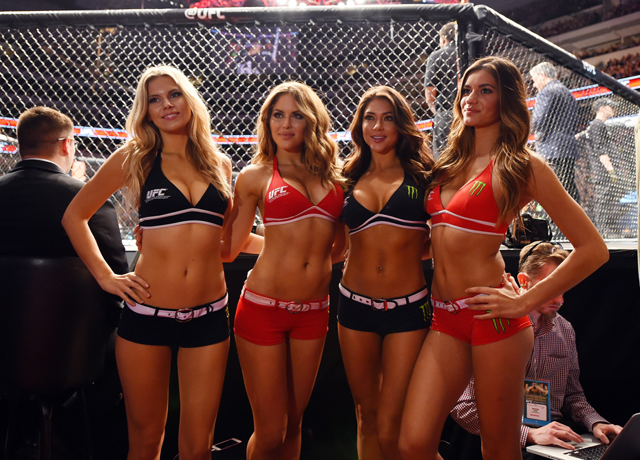 Chrissy Blair, Brittney Palmer, Arianny Celeste and Vanessa Hanson :: Getty Images