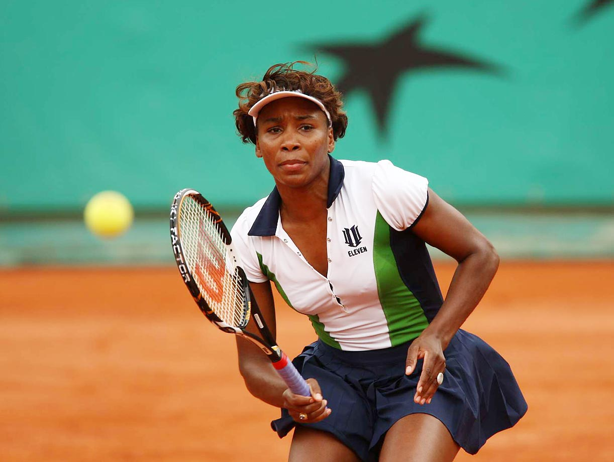 Williams suffered a disappointing, early defeat at Roland Garros in 2008, within 24 hours of when her sister was also knocked out. Clay is Williams' weakest surface, and she has only made it to the finals of the French Open once, where she lost to her sister.