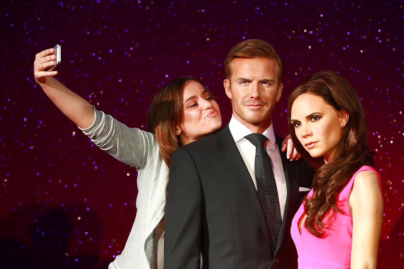 David and Victoria Beckham got waxed at Madame Tussauds in London.