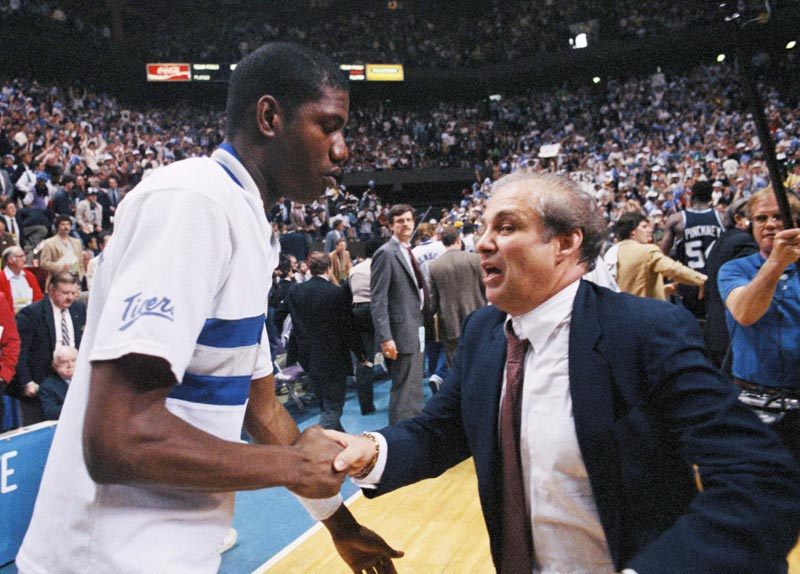1985: No. 8 Villanova defeats No. 2 Memphis State 52-45 in a national semifinal.