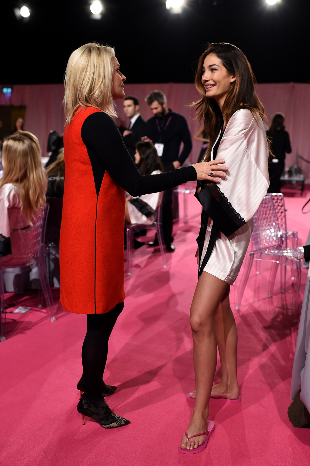 Lily Aldridge with V.S. CEO Sharen Turney