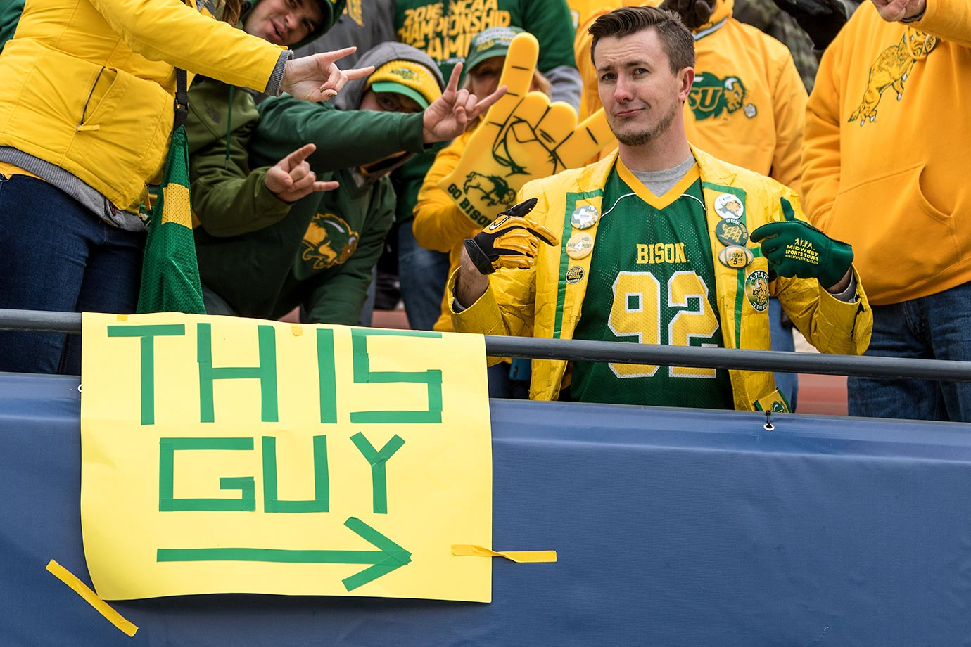 Not, that guy.  North Dakota State Bison fans at the FCS Championship.