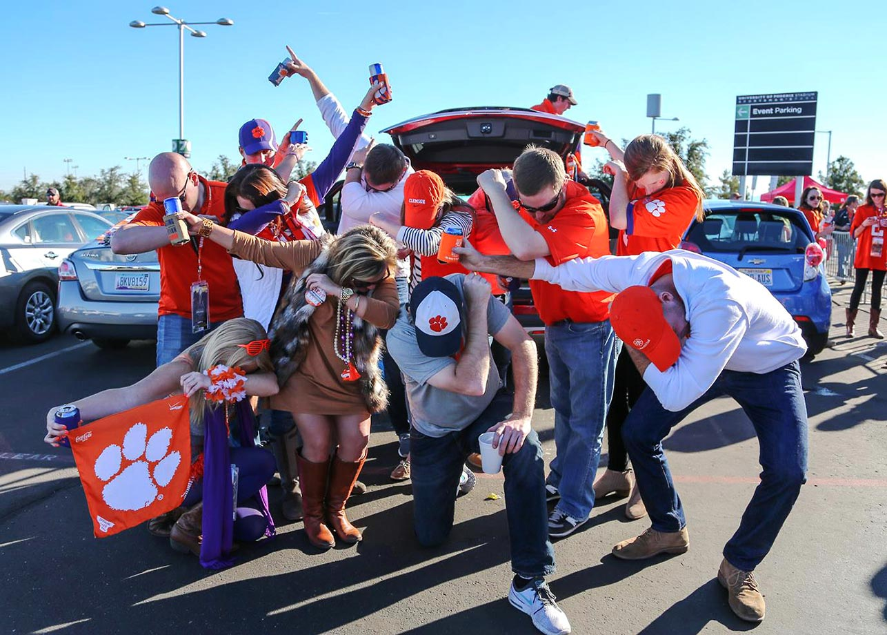 Clemson fans before the big game.