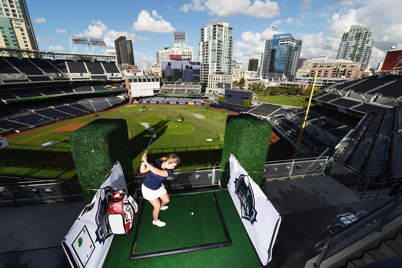 The Links at Petco Park--a nine hole golf experience.