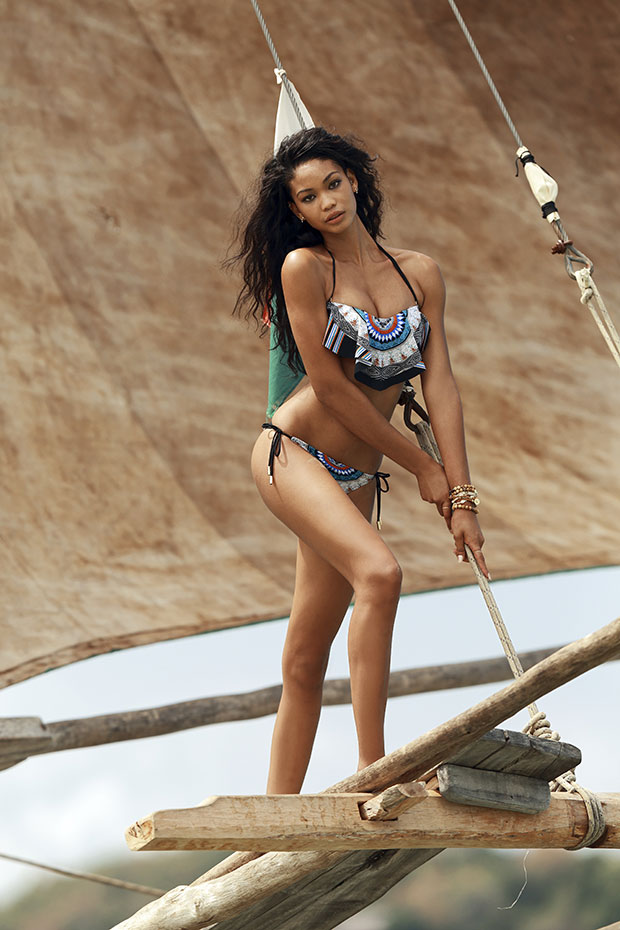 Chanel Iman in Madagascar, SI Swimsuit 2014