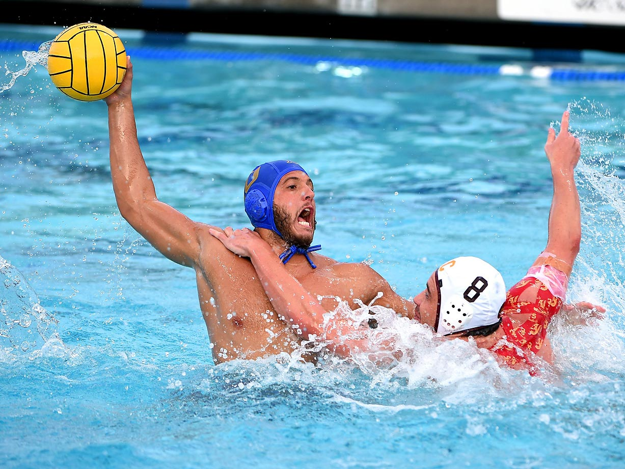 Cristiano Mirarchi of UCLA duels with Mac Carden of USC.