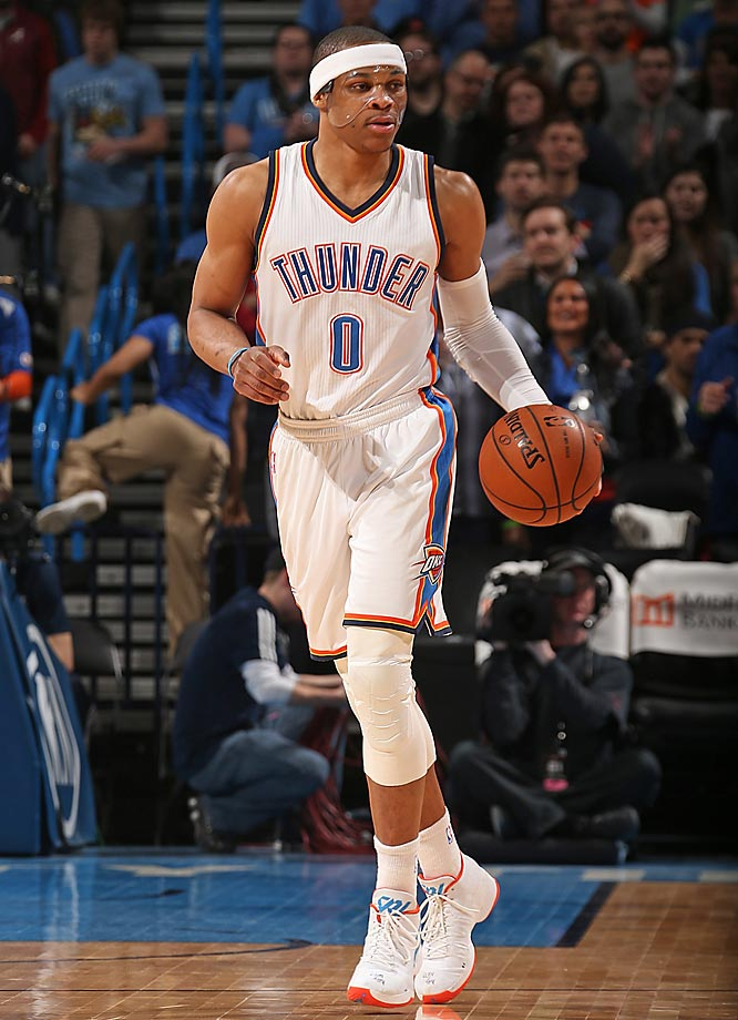 Russell Westbrook started wearing a protective mask in March 2015 after an inadvertent knee to the face by teammate Andre Roberson led to surgery. Of course, Westbrook isn't the first NBA player to don a mask in the name of safety. Here are a few of the others.