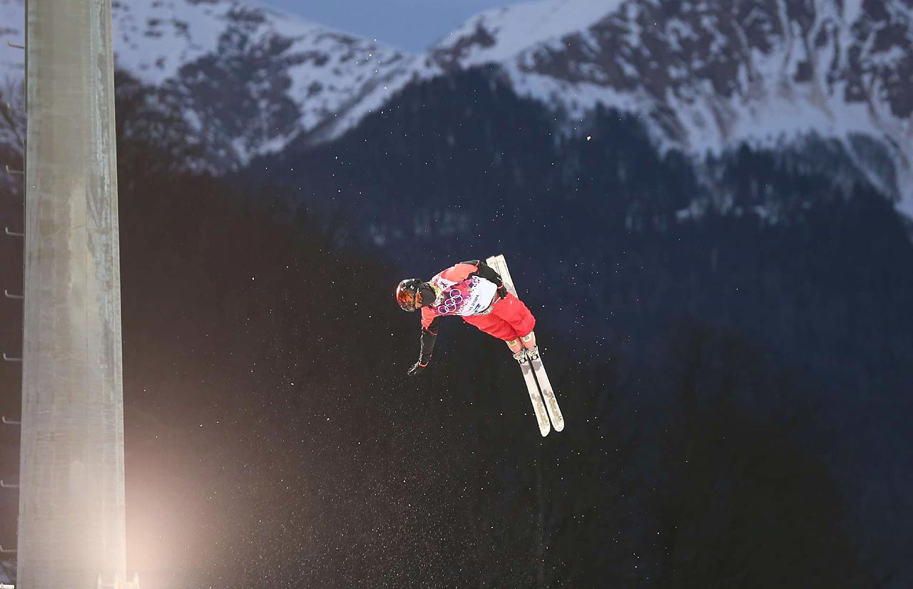 Xin Zhang of China during the Aerials qualification.