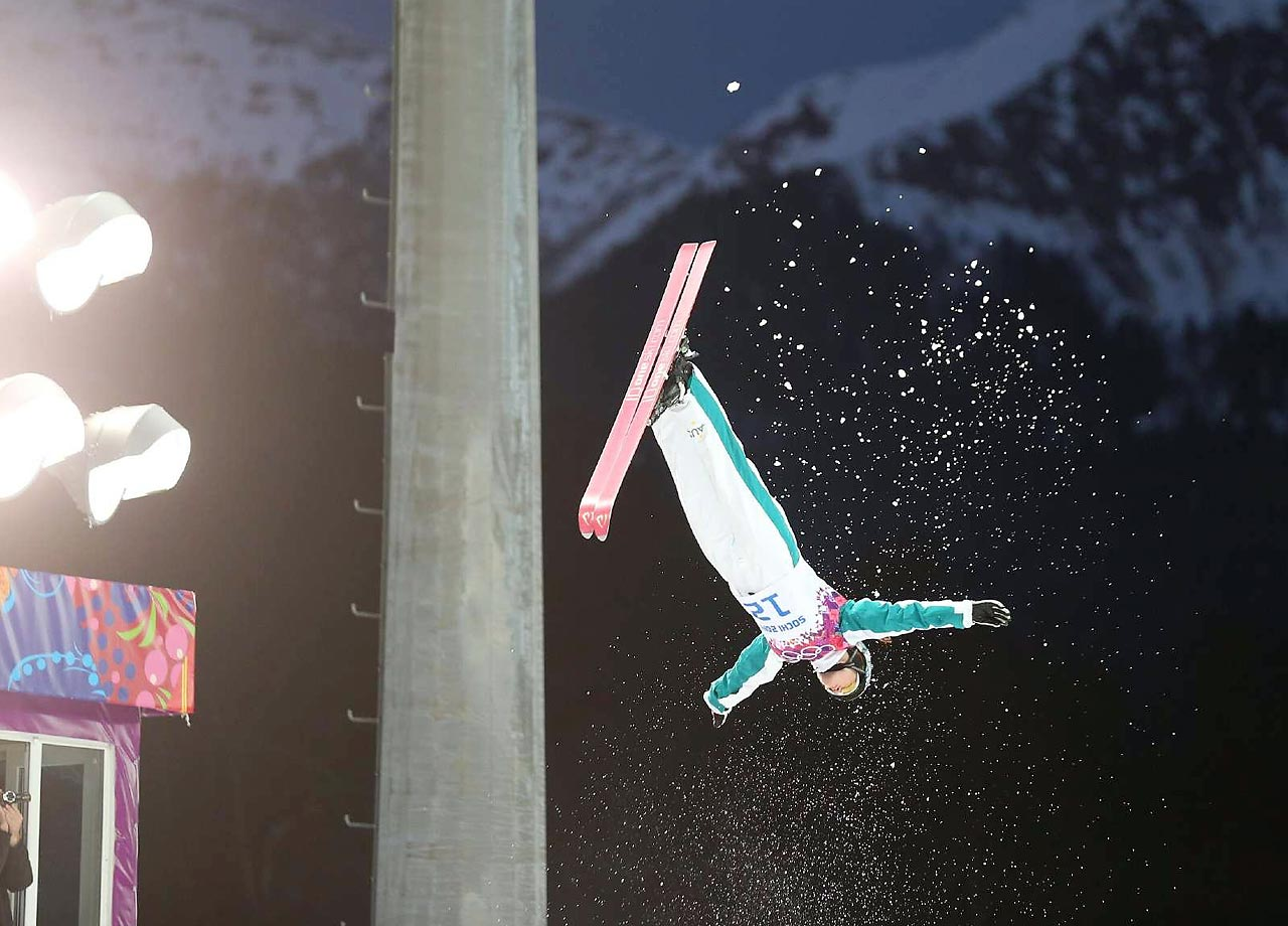 Samantha Wells of Austria during the Aerials qualification.