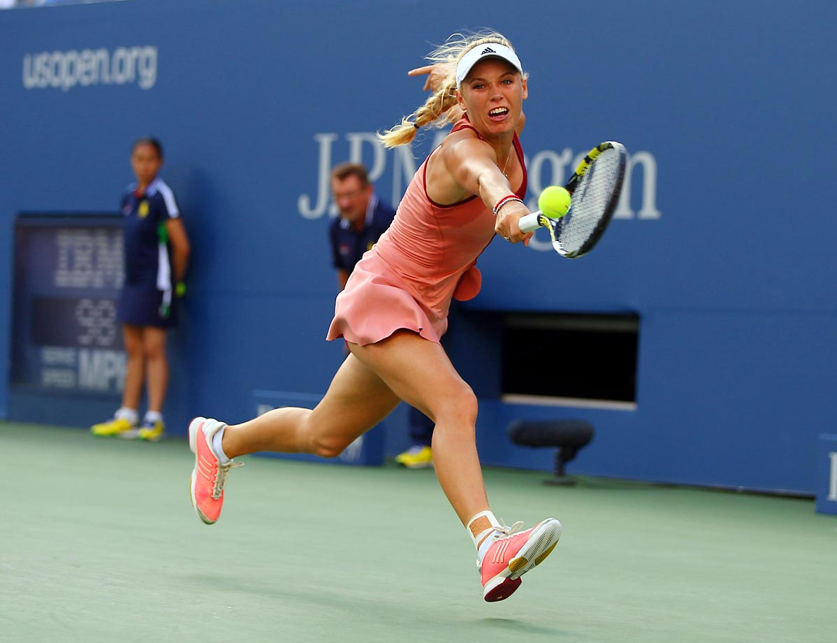 Caroline Wozniacki was overpowered in her 6-3, 6-3 loss to Serena Williams in the U.S. Open finals.