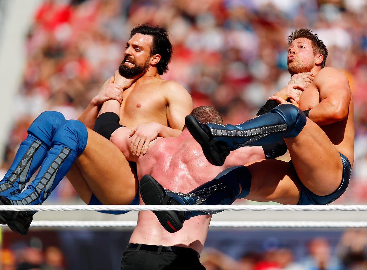 Kane, The Miz and Damian Mizdow at WrestleMania 31 in San Francisco.