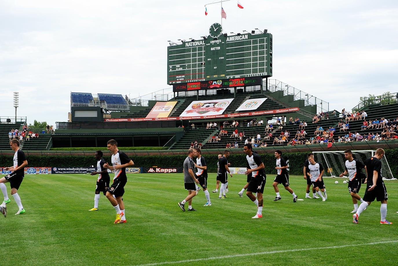 A.C. Roma played Zaglebie Lubin at Wrigley Field on July 22, 1012.