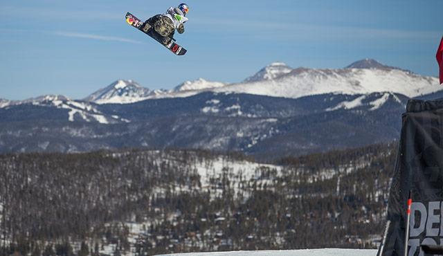 Yuki Kadono in the men's slopestyle semifinals.