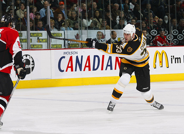 Zdeno Chara took the slapshot to the next level, currently holding the NHL record for the hardest shot ever hit at 108.8 mph.