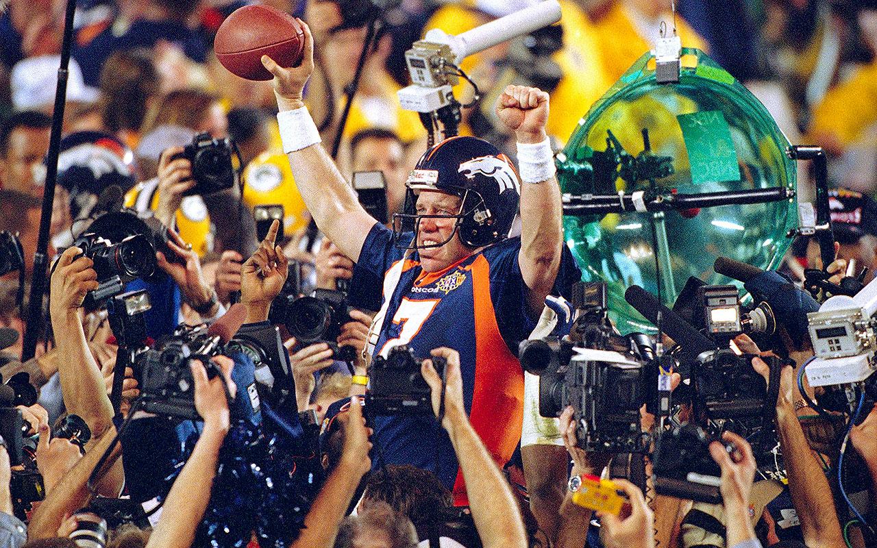 Packers Head For Super Bowl In Blur Of >> Super Bowl 32 John Elway Broncos Upset Packers Vault
