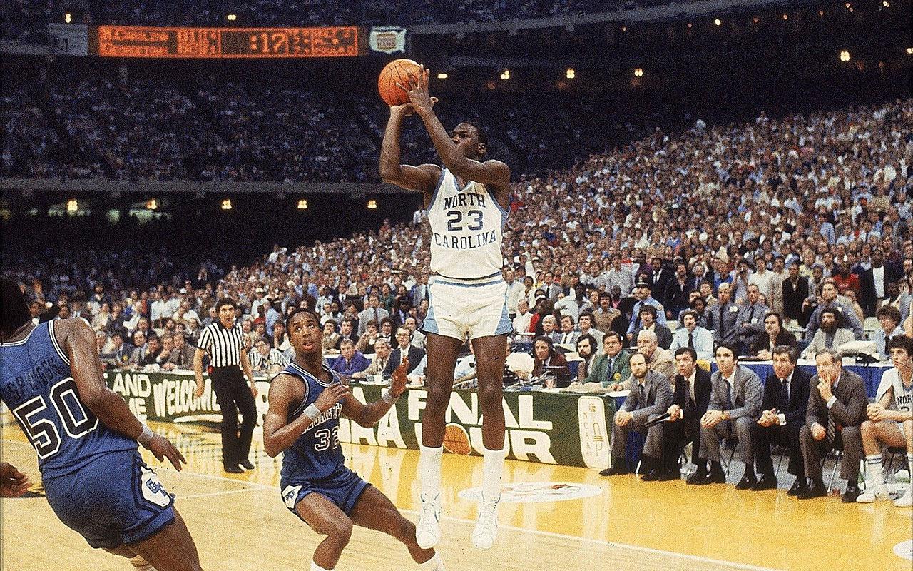 bcec7d576f8 North Carolina: Tar Heels win 1982 NCAA title on Michael Jordan's ...