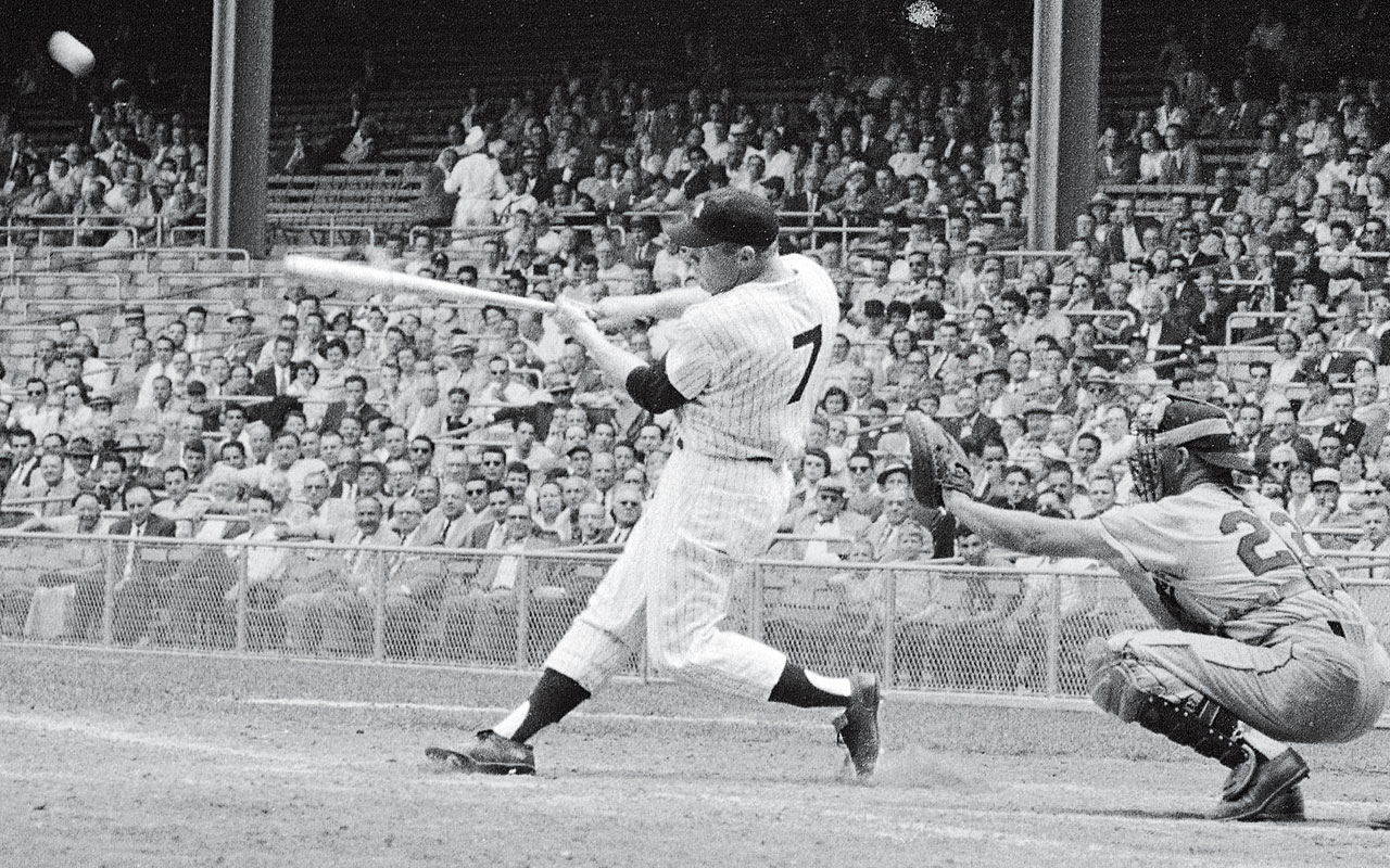 Image result for 1956 pedro ramos mickey mantle images