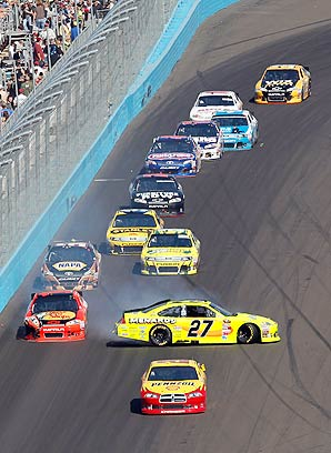 Paul Menard (27) is currently 14th in the points with zero top-fives and three top-10 finishes.