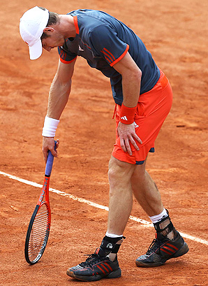 Andy Murray received treatment on the court during his match, but was able to pull through with a win.