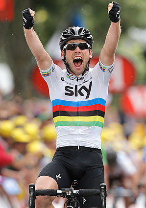 Mark Cavendish, arguably the world's best sprinter, won his second stage of the Tour de France in a breakaway sprint.