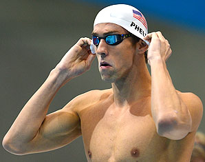 Michael Phelps looks to pull off a 'Federer' and beat his rivals in the 200m individual medley.
