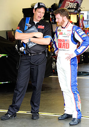 Crew chief Steve Letarte helped Dale Earnhardt earn his first win in four seasons in Michigan last June.
