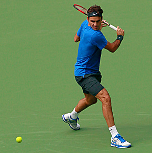 Top seed Roger Federer has received a bye into the second round.