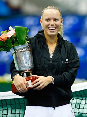 Caroline Wozniacki won her 20th career title on Sunday.
