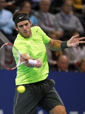 Juan Martin del Potro denied Roger Federer his 77th career singles title.