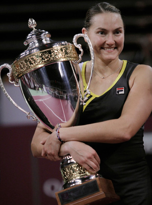 Nadia Petrova clinched her third WTA title of the year.