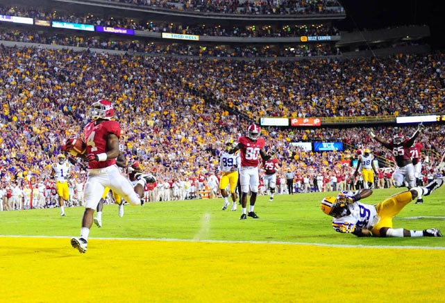 Alabama quarterback A.J. McCarron promised his father he would defeat No. 5 LSU on Nov. 3. McCarron came through on his word, putting together a late touchdown drive -- including a game-winning 28-yard touchdown pass -- to ensure that the Crimson Tide would remain undefeated.