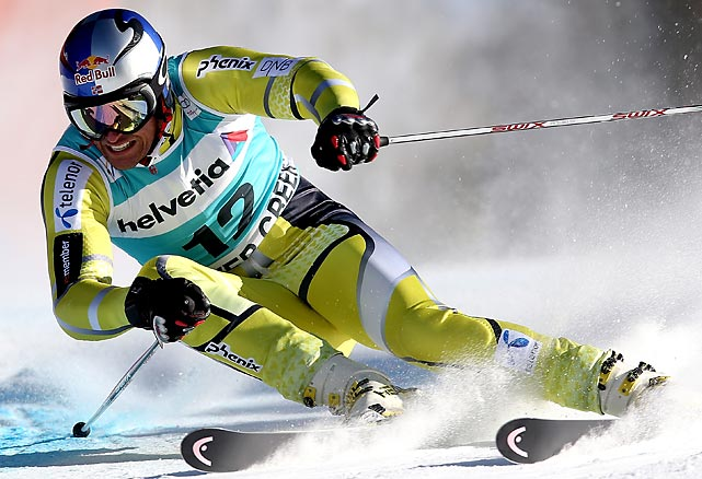 Norwegian skier Aksel Lund Svindal competes in the men's Giant Slalom at the Audi FIS World Cup in Beaver Creek, Colo.