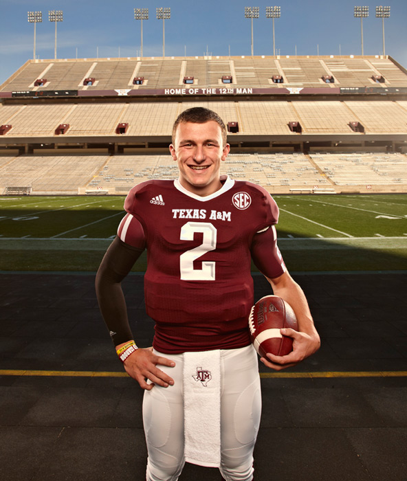 Manziel poses during an SI photo shoot in December 2012.