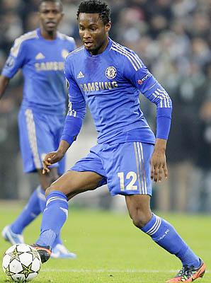 John Obi Mikel and Chelsea were bounced from the Champions League on Wednesday.