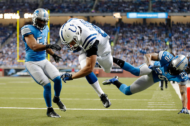 The Stanford connection took 12 games to spark, but last week Fleener finally caught his first professional touchdowns thrown by his college teammate Andrew Luck. Fleener and Dwayne Allen are both in great position to hit pay dirt against a Titans defense that has given up the second-most catches and is tied for the most touchdowns surrendered to tight ends.