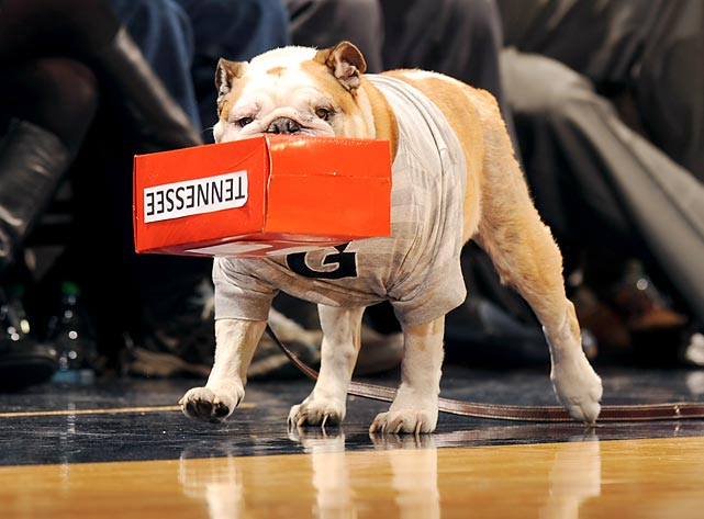 As Georgetown's mascot boxed out the Volunteers, the Hoyas took full advantage, winning the SEC-Big East Challenge, 37-36, at Bender Arena in Washington, DC.