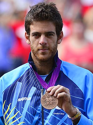 Juan Martin del Potro beat Novak Djokovic for the bronze medal at the London Olympics.
