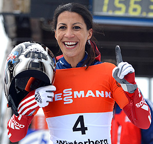 Britain's Shelley Rudman beat the track record by more than half a second.