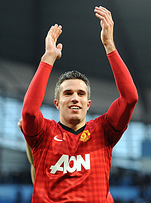Dutch striker Robin Van Persie enjoyed his first Manchester derby after joining United from Arsenal in the offseason.