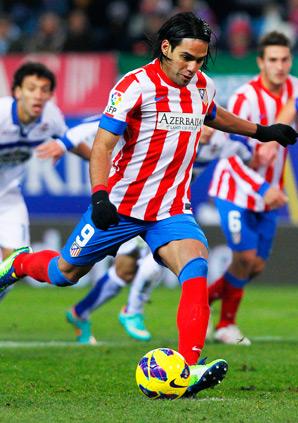 Atletico's Radamel Falcao had five goals in a win over Deportivo.
