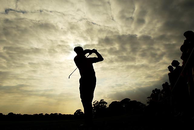 Robert Allenby competes during the second round of the Australian Open in Sydney.