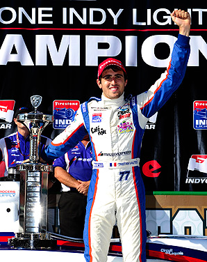 Indy Lights champion Tristan Vautier will test an Indy car at Sebring International Raceway this week.
