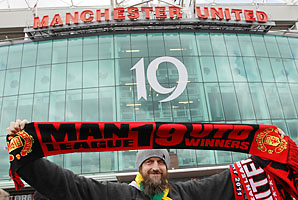Manchester United has won a Premier League record 19 championships.