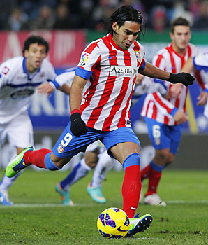 Radamel Falcao is second only Lionel Messi in La Liga goals.